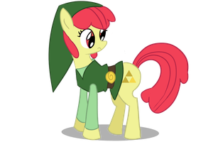 Applebloom as Link by Undead-Niklos