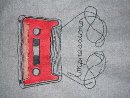audio cassette embroidery by godfather763