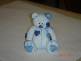 Blue Patchwork Bear by ryliecat