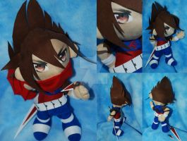 Strider Hiryu Plush version 2 by sengster