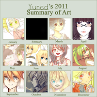 Yune-d's 2011 Summary Of Art by yune-d