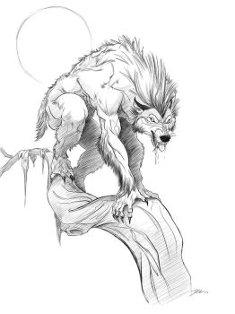 Werewolf....good times by davidsdoodles