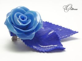 Brooch Ice Rose 3 by OrionaJewelry