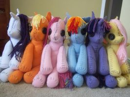All Pony Rag Dolls by charletothemagne