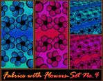 Fabrics with Flowers - Set No.4 by allison731