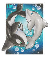 Ocean Love ::ACEO:: by Hi0u