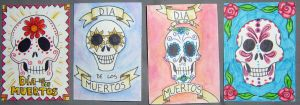 Day of the Dead ATC Set by ReverendBonobo