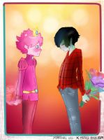 Marshal Lee X Prince Bubblegum by DeAtHofCopPeLIA