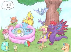 Mana Monster Pool Party by Saij-Spellhart