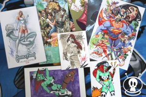 Baltimore Comicon 09 loot by PatCarlucci