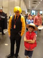 Sanji and Luffy Cosplay by BattleDroids100