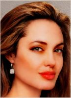 Angelina Jolie-Digital Painting by chamirra