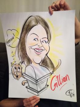 Caricature drawing of me by bGilliand
