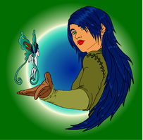 The Fairy in y palm by milissaroland