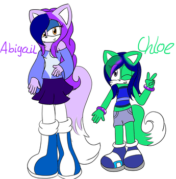 Abigail and Chloe the Fox Redesigns by GhosthogPhantazia