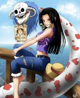 Boa Hancock one piece by reynaldo-007
