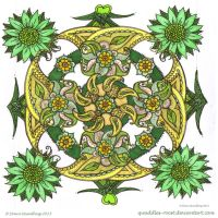 Paisley Power Circle Collab by Quaddles-Roost