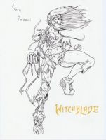 Witchblade inks by misterFISH