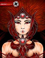 sprayplay The red queen by 895graphics