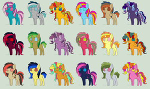 Super Free Pony Adopts Batch 6 *CLOSED* by FaerieFoxAdopts