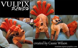Plushy vulpix by Shalie