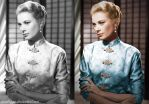Grace Kelly Colorization by SamBriggs