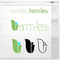 harm-less logotype remake 3 by inde-blokcrew