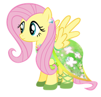 Fluttershy - The Mane Dress Project by KibbieTheGreat