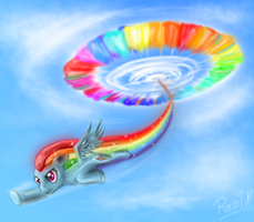 Sonic Rainboom by RainDH