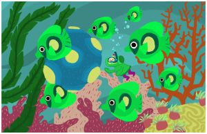 Underwater Katamari by radtastical