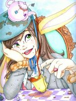 Playing with the tea hat by Tella-in-SA