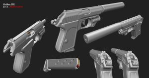 Walther PPK Pistol by redroguexiii