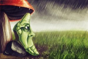 N.011 Metapod by recycled-batteries