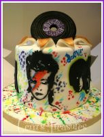 Bowie, The Beatles, Pink Floyd, Cake and Chocolate by gertygetsgangster