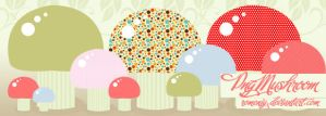 Cute Mushroom Png set by Romenig