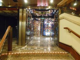 The hallway into the Butterflies Room on the ship by OceanRailroader