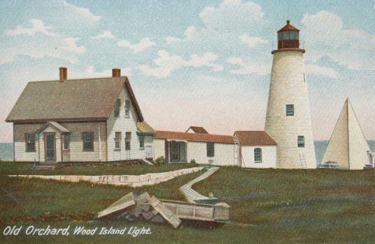 Vintage New England - Wood Island Light by Yesterdays-Paper