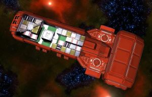 Wedge Freighter 06 by MADMANMIKE