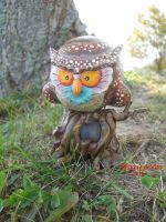 """owl in a tree 4"""" munny custom by anthonyDeVito"""