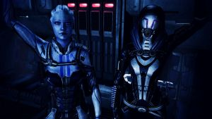 Liara T'Soni and Tali'Zorah vas Normandy by johntesh