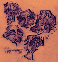 Head Studies I by Austin-Hodge