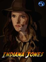 Anna Kendrick as Indiana Jones by derianl