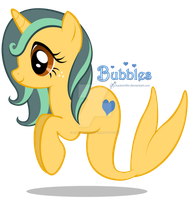 Gift: Bubbles the Hippocampus by LisaJennifer