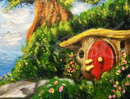 Hobbit Hole by MissMachineArt