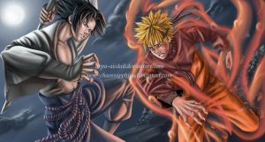 Sasuke vs Naruto - final fight by Arya-Aiedail