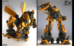 Bumblebee - Low Poly by V4n5hock3r