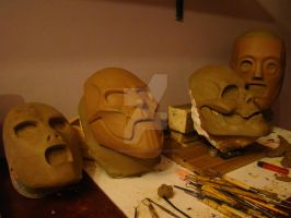 Current Slipknot Mask Sculptures by purplenothing
