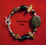 Brown Wooden Bracelet by BloodRed-Orchid