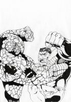 thing vs Hulk by megallicor