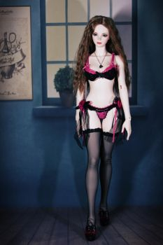 Walking with Hot Pink Lingeries 1 by CelineHot